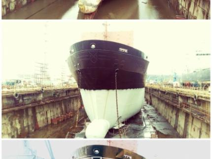 MV STEVIA - Blasting and painting