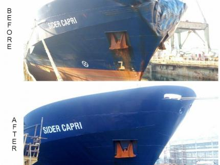 MV CIDER CAPRI - before and after
